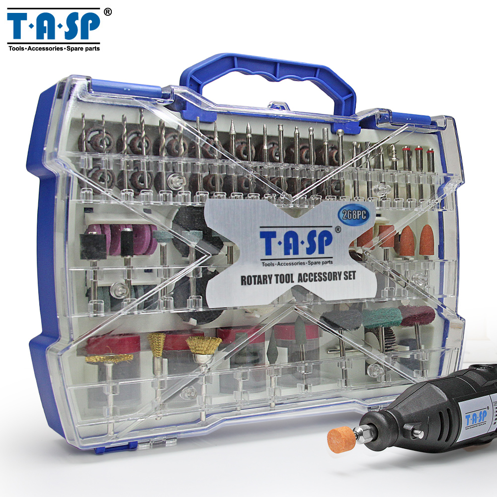TASP 268PC Dremel Accessories for Grinding Polishing Cutting Abrasive Tools Kits