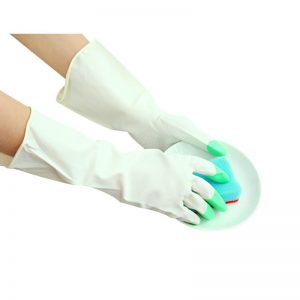 Kitchen Housewares Plastic Waterproof Rubber Gloves Household Housewares Dishwashing Paper Leather Gloves Thin Thick and Durable