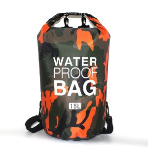2/5/10/15L Outdoor Camouflage Waterproof Portable Rafting Diving Dry Bag Sack PVC Swimming Bags for River Trekking