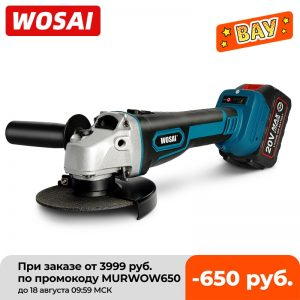 WOSAI M14 Cordless Angle Grinder 20V Lithium-Ion Grinding Machine Cutting Electric Angle Grinder Grinding Brushless Power Tool