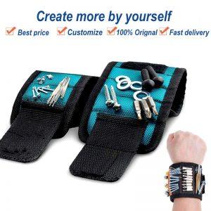 Strong Magnetic Wristband Wrist Waist Bracelet Belt Electrician Carpenter Screw Nail Car Repair Tool Holder Organizer Toolkit